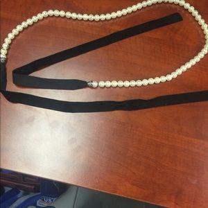 🛍🛍 Pearl belt with velvet straps
